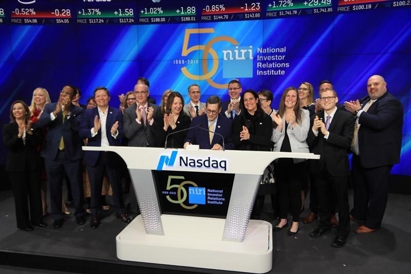 NIRI National Bell Ringing at NASDAQ, July 2019