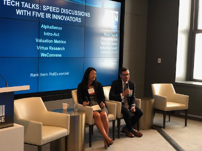 "NIRI NY Spring Program ""Tech Talks"" – Speed Dating with Five IR Innovators (May 15, 2018)"